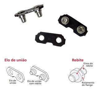 Emenda Corrente Elo Corrente Motosserra 3/8 1,5mm 100 Pares