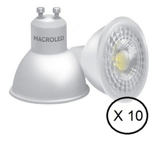 Lampara Dicro Led 7w Gu10 220v Calida Macroled Pack X 10u