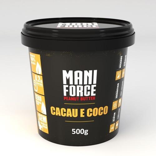 Maniforce Pasta De Amendoim Cacau E Coco 500g Zero Açúcar