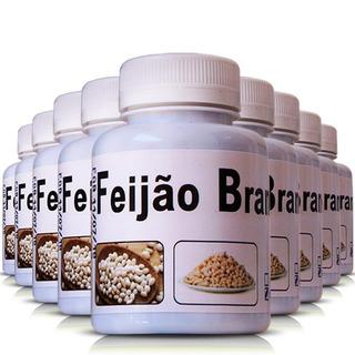 Kit 9 Potes Feijão Branco 500mg 100 Cápsulas Ervas Brasilis
