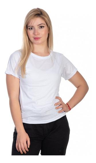 T-shirt Feminina Blusinha Branca Lisa Basic Algodão Oferta