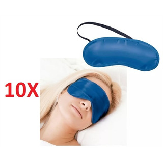 Kit 10 Mascara Para Dormir Tapa Olhos Mascara Sono Garantido
