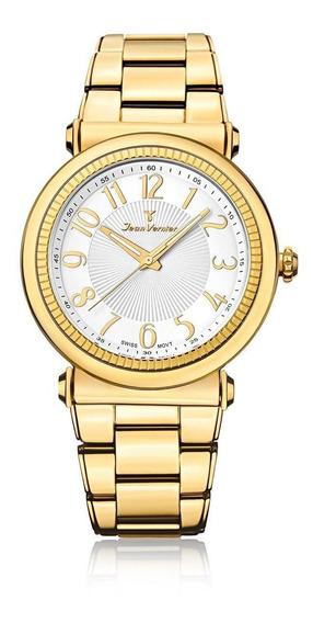 Relógio Pulso Jean Vernier Aço Inoxidável Masculino Jv01146