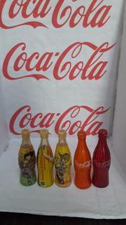 5 Garrafinhas Miniatura Coca Cola