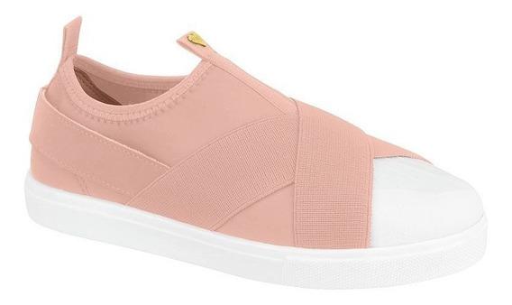 Sapato Tênis Infantil Oxford Rosa Tecido Molekinha Clique+