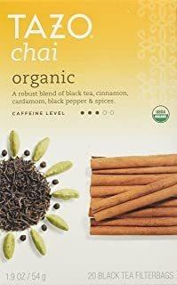 Tazo Organic Chai, Té Negro Con Especias, Bolsitas De Té D