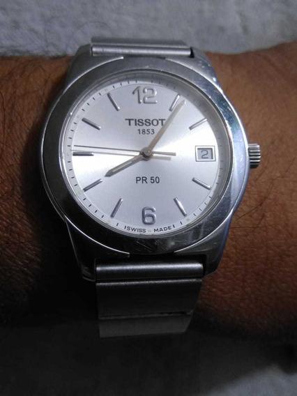 Reloj Marca Tissot De Acero Con Calendario