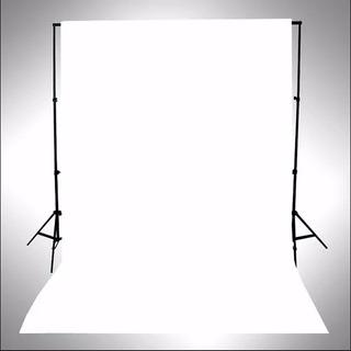 Fondo Infinito De Fotografía /blackout Blanco Mate 200x400cm + Dobladillos