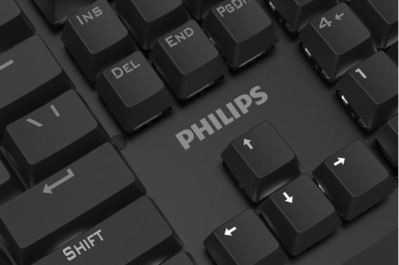 Teclado Mecânico Para Pc Philips Momentum Spk8413