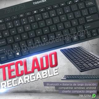 Teclado Recargable Bluetooth Inalámbrico Windows Android
