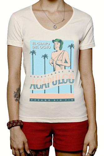 Camiseta Chaves Em Acapulco - Feminino - M