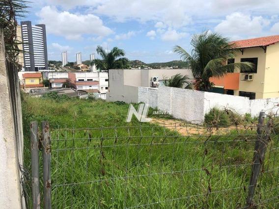Terreno À Venda Na Jaguarari, 685 M² Por R$ 600.000 - Candelária - Natal/rn - Te0126