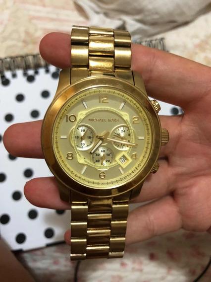 Relógio Original Michael Kors Gold 8077