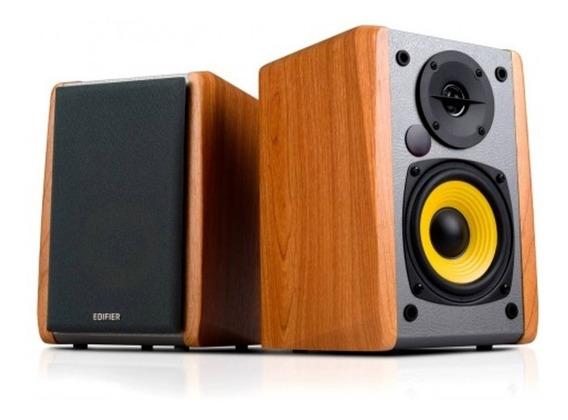 Monitor De Áudio Bluetooth R1010bt Madeira 24w Rms Edifier