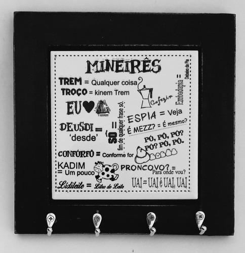 Porta Chave Com Azulejo - Mineirês