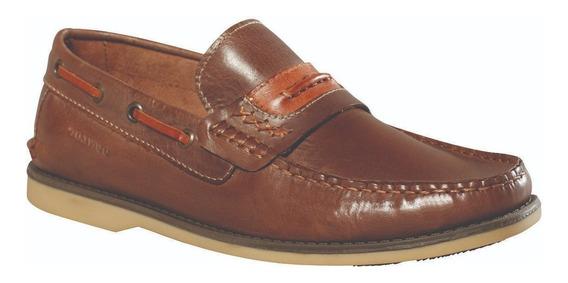 Zapato Mocasin Cuero Hombre Dunlop Clay