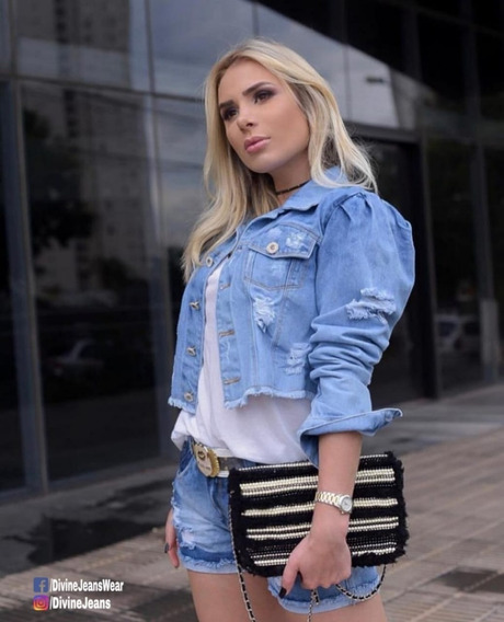 Jaqueta Jeans Feminina, Kiss Me