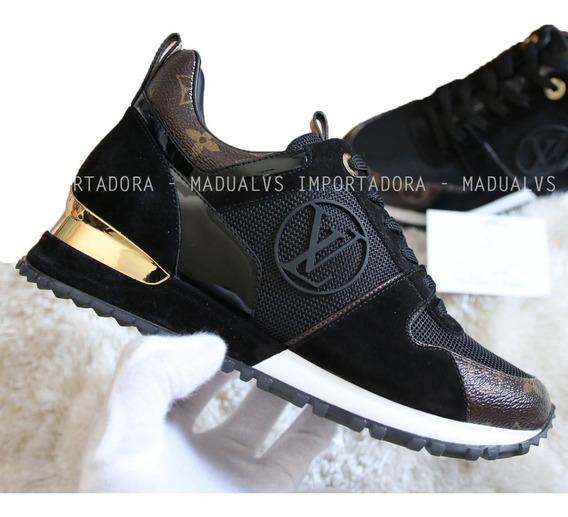 Tênis Louis Vuitton Run Away Preto - Frete Grátis