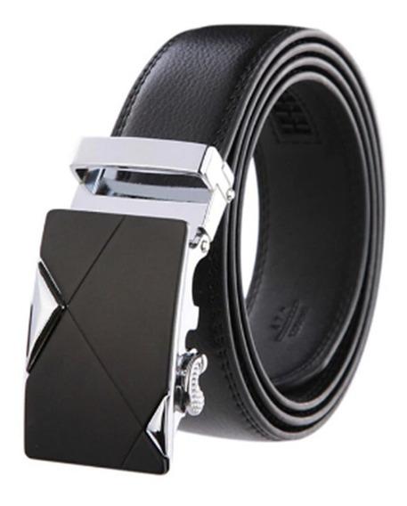 Cinturon Con Hebilla Ajustable Por Boton Hombre Caballero