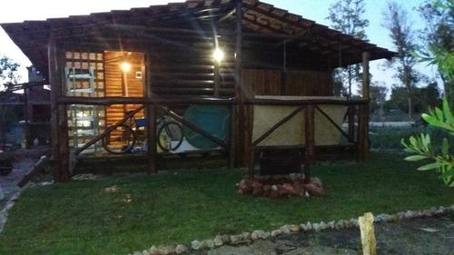 Imagen 1 de 12 de Hermosa Y Confortable Cabaña De Tronco A Estrenar Alquiler T