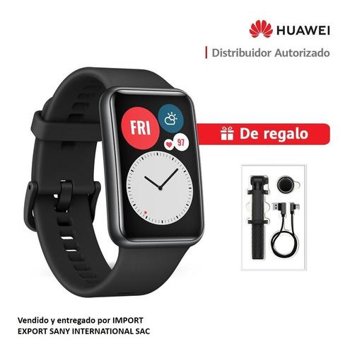 Huawei Smartwatch Watch Fit- Negro + Selfie Stick + Usb-c