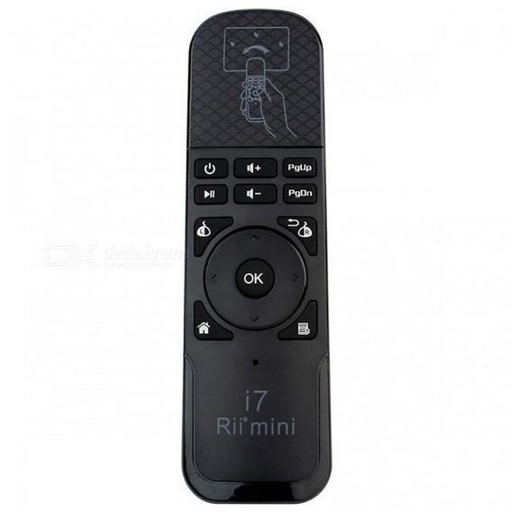 Controle Remoto Sem Fio Mouse 2.4ghz Mouse Ar Voar Rii I7 Mi