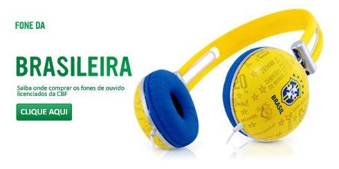 Fone De Ouvido Brasil Seleção Brasileira Waldman - Amarelo