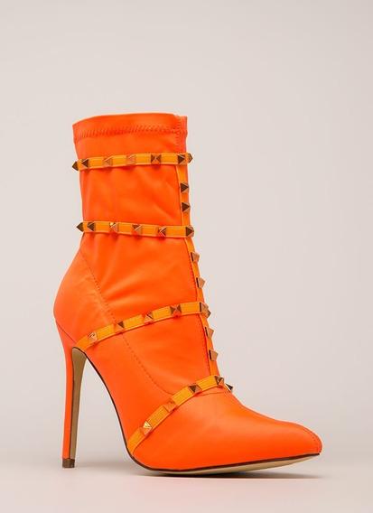 Zapatos - Mujer - Bota Elastizada - Tachas