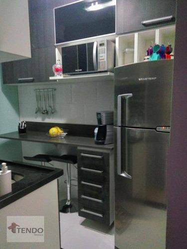 Imagem 1 de 19 de Imob01 - Apartamento 49 M² - 2 Dormitórios - Santa Terezinha - São Bernardo Do Campo/sp - Ap0746