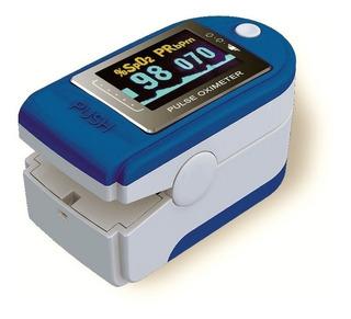 Oximetro Saturometro Pulso Con Curva, Estuche Y Correa
