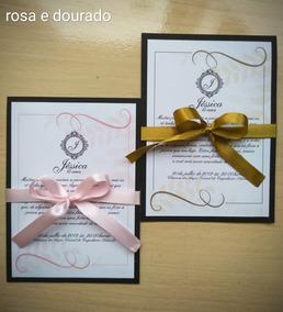 Convite Aniversário Debutante (15 Anos) 45 Unid Mini-convite