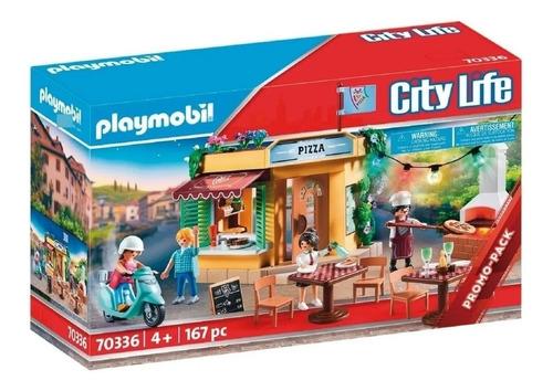 Imagen 1 de 9 de Playmobil Restaurante La Pizzeria Terraza 70336 City Life