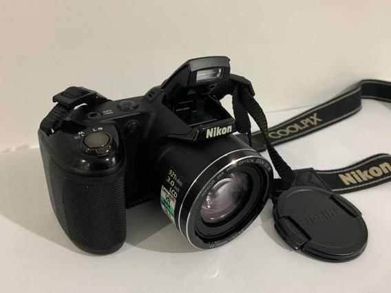 Câmera Nikon Coolpix L810 + Bolsa E Cartão De Memória 16gb