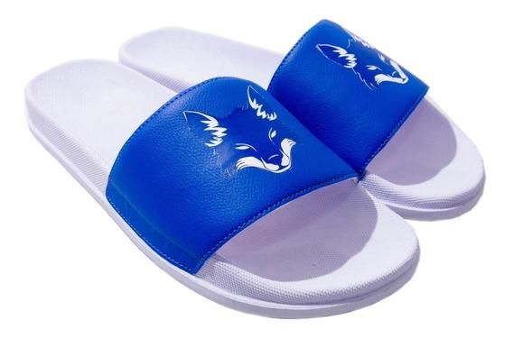 Chinela Cruzeiro Calçado Macio E Confortável Chinelo Futebol Brasileiro Sandália Raposa Super Esquadrão Azul 5 Estrelas