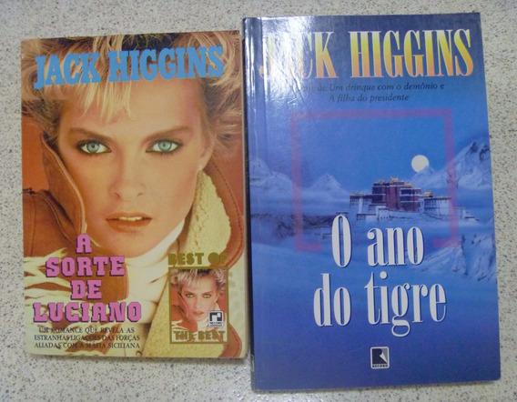 Kit Livros Jack Higgins O Ano Do Tigre + A Sorte De Luciano