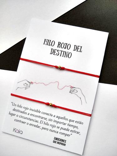 Manillas Hilo Rojo Del Destino Acero Dorado Regalo H1901