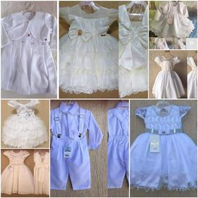 Kit Infantil Vestidos 10pçs Branco Datas Especiais Variados
