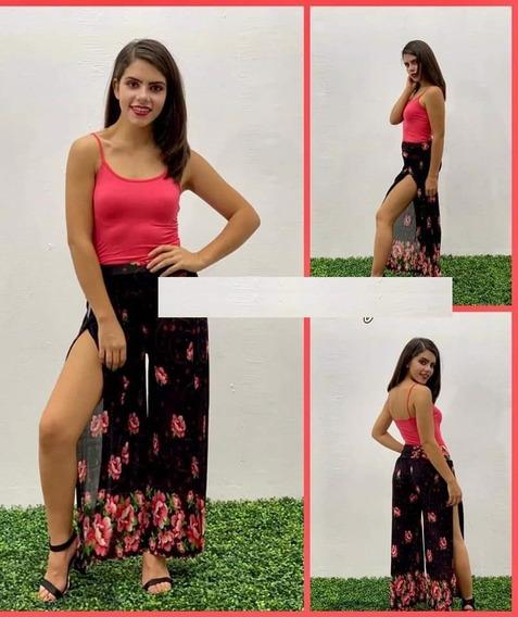 :* Pantalon Pareo Flores Playero Dama + Envio Gratis