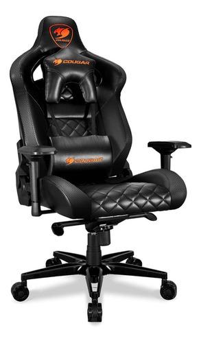 Imagen 1 de 4 de Silla de escritorio Cougar Armor Titan gamer ergonómica  black con tapizado de cuero sintético