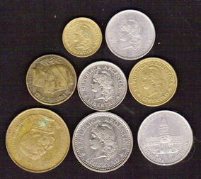 Argentina 1949-84 Set 8 Monedas ( M 16) Imperdible Vea