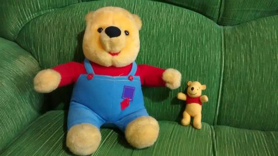 Urso Pooh De Pelucia Que Mexe O Nariz + Miniatura