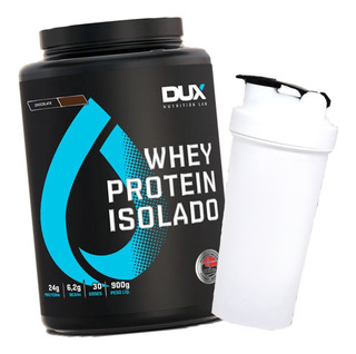 Whey Protein Isolado Pote 900g + Shaker - Dux Nutrition