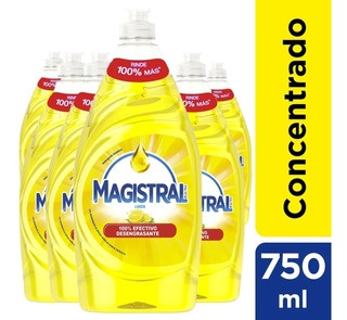 Pack 6 Lavaloza Concentrado Magistral Limón 750 Ml