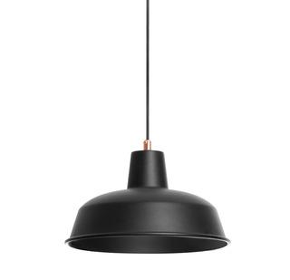 Lámpara De Techo Leda 2 Negra Cable Tejido