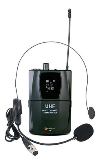 Microfone S/ Fio Headset Lapela Digital Kadosh K-501h