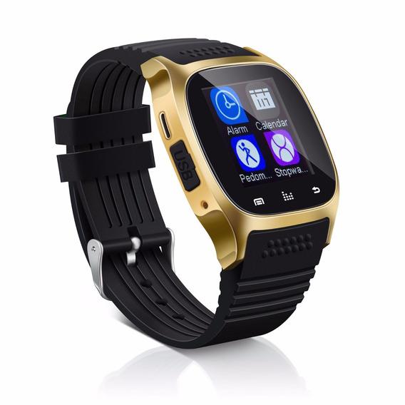 Reloj Inteligente Smartwatch Bluetooth Android / Ios Dorado