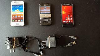 Celular Motorola Nokia Y Samsung Lote Combo Usado C/ Acc Cap