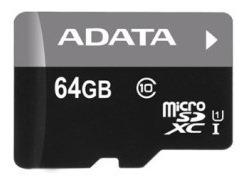 Cartão Memoria Micro Sd A-data 64gb + 1 Adpt. Class 10