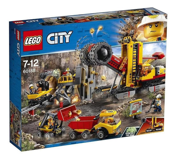 Brinquedo Blocos De Montar Lego City Área De Mineiros 60188