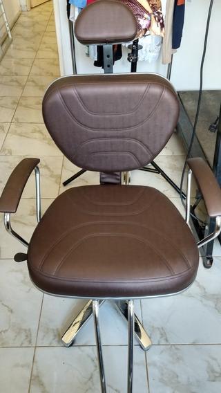 Cadeira Para Maquiador / Cabedeleiro Hidráulica